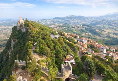 san marino: San Marino city view. Wide angle.