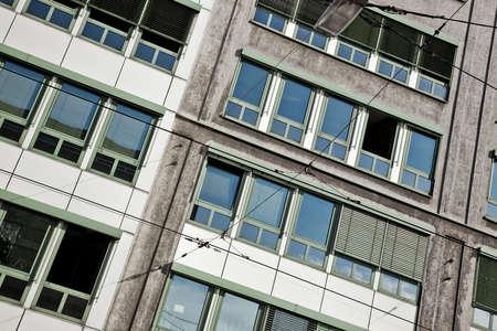 angle view: Urban abstract. Camera angle view. Stock Photo