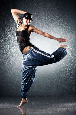 Young woman modern dance. Water studio photo. Stock Photo - 6243704
