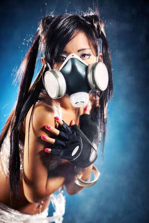 cosplay: Cyber girl. Shallow dof effect.
