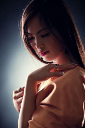 Young japan woman tender portrait. Shallow dof effect. Stock Photo - 6376482