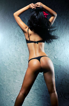Young sexy brunette woman dancer. Stock Photo - 6596779