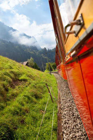 Alps mountain travel. View from the train. Stock Photo - 6968465