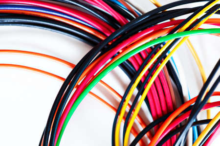 power cables: Computer power wires. On white background.