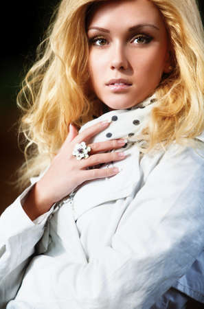 Young woman fashion autumn portrait. photo