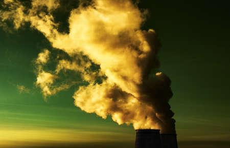 Toxic smoke. Dramatic colors effect. photo