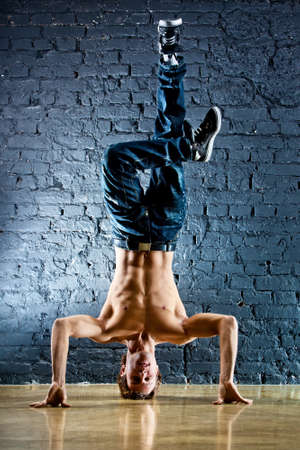 Young strong man break dance. Stock Photo - 9969685