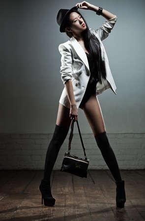 Young sexy japanese woman fashion. Stock Photo - 11743488