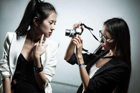 fashion shoot: Young japan women fashion shooting.