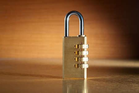 number lock: Modern combination lock still life.