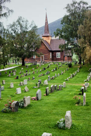 Church cemetery with in Norway  Stock Photo - 12817468