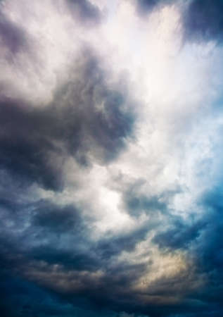multi colors: Dramatic overcast sky. Multi colors. Stock Photo