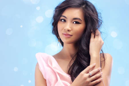 Young vietnamese woman romantic portrait  Stock Photo - 16334145