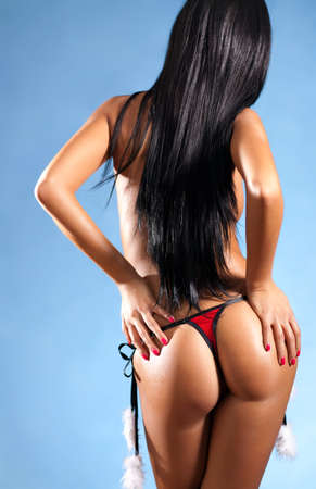 Sexy japanese woman backside view  Stock Photo