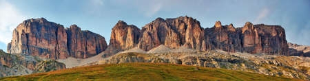 dolomites: High mountains in Dolomites Italy panorama  Stock Photo