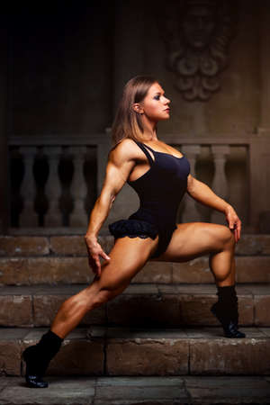 Young woman bodybuilder photo