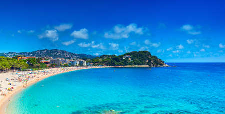 Spain coast  Lloret de mar panorama  版權商用圖片
