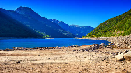 pyrenees: Pyrenees mountains and lake landscape.