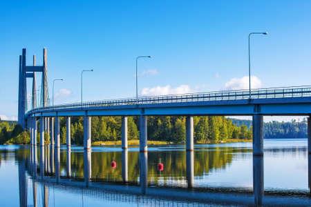 modern bridge: Modern bridge in Finland.