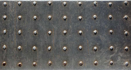 rivets: Old metal texture with rivets. Stock Photo