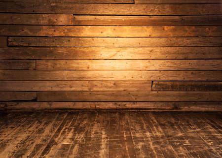 Parete in legno e pavimento sfondo. Archivio Fotografico - 41708283