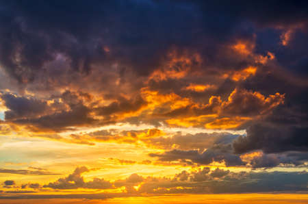sunset clouds: Red summer sunset clouds background. Stock Photo