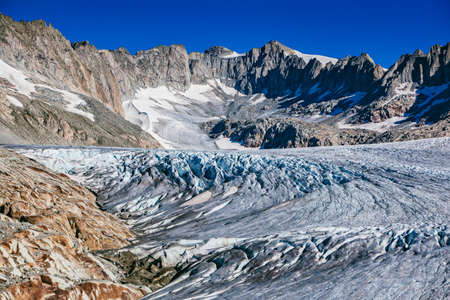 High Alps mountains with glacier