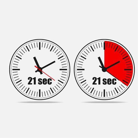 Twenty one Seconds Clock