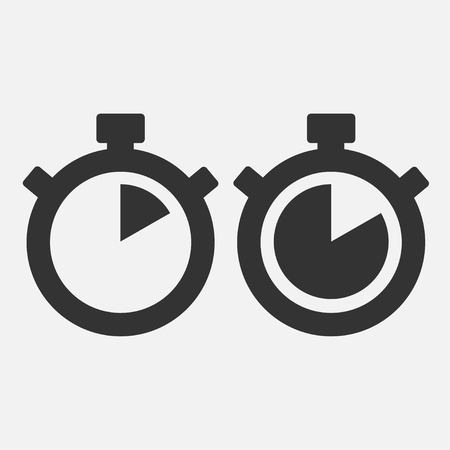 Stopwatch Vector Icon on gray background. Ten seconds. vector. Illustration