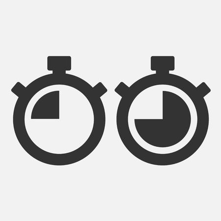 Stopwatch Vector Icon on gray background. Fourty five seconds. vector.