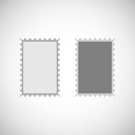 Postage stamp vector icon. Vector illustration