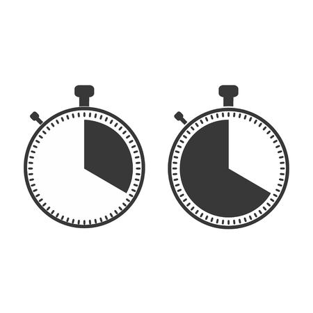 The 20 seconds, minutes stopwatch icon on white background. Clock and watch, timer, countdown symbol. Web, Logo, Sign, App. Flat design Vector illustration EPS 10