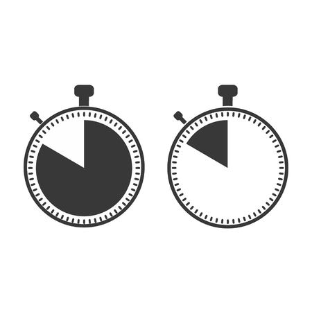 The 50 seconds, minutes stopwatch icon on white background. Clock and watch, timer, countdown symbol. Web, Logo, Sign, App. Flat design Vector illustration EPS 10 Illustration