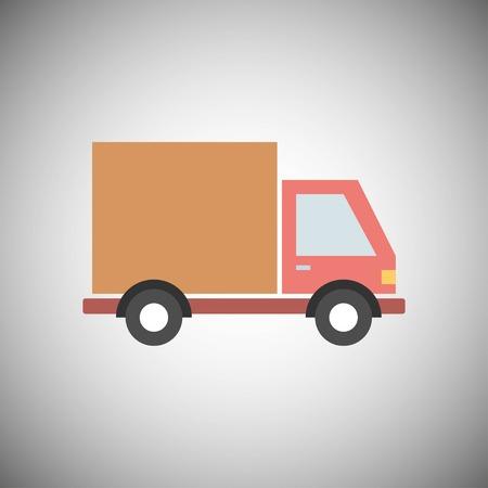 Moving machine. Car icon. Truck. Relocation Vector illustration EPS 10 Illustration