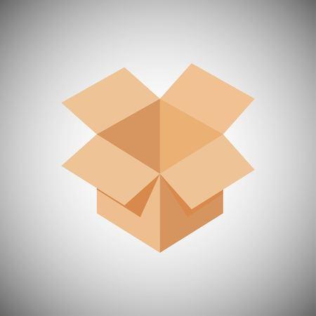 Cardboard box for moving. Cardboard box icon. Vector illustration EPS 10.