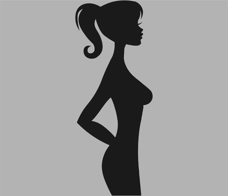 Slim woman. Vector illustration EPS 10.