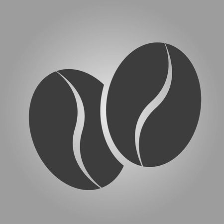 Coffeebeans icon isolated on gray background. Vector illustration
