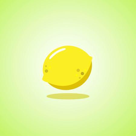 Yellow lemon icon isolated on green background. Vector illustration Stock Vector - 124820164