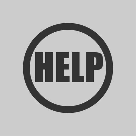 Help mark in a circle icon. Vector illustration EPS 10.