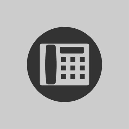 Phone icon in flat style isolated on gray background. Telephone symbol. Vector illustration EPS 10.