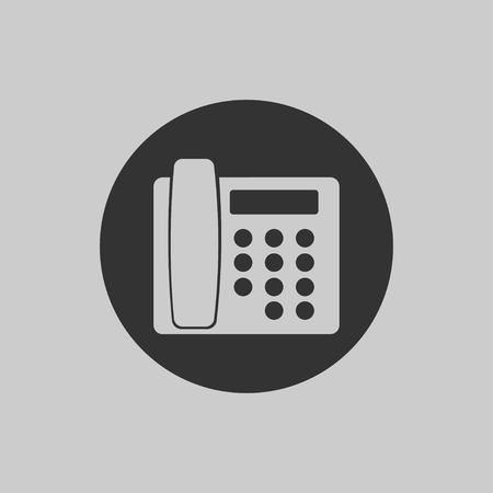 Phone icon 2 in flat style isolated on gray background. Telephone symbol. Vector illustration EPS 10. Stock Vector - 124782733