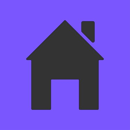 Home vector icon isolated on violet background. House Symbol. Vector illustration EPS 10. Illustration