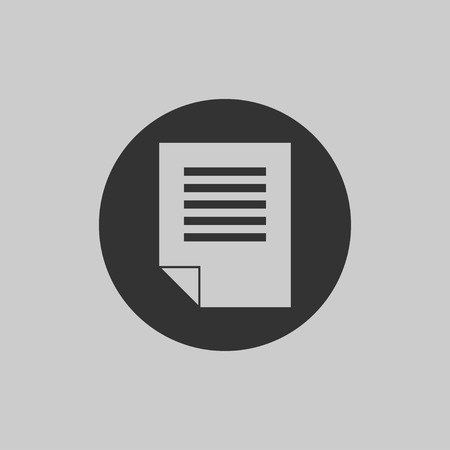 Checklist icon isolated on gray background. Flat icon of list. Web line sign. Vector illustration EPS 10