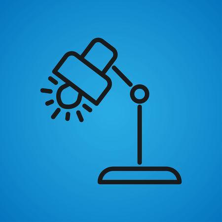 Isometric vector lamp. Lamp miniatures. Vector illustration