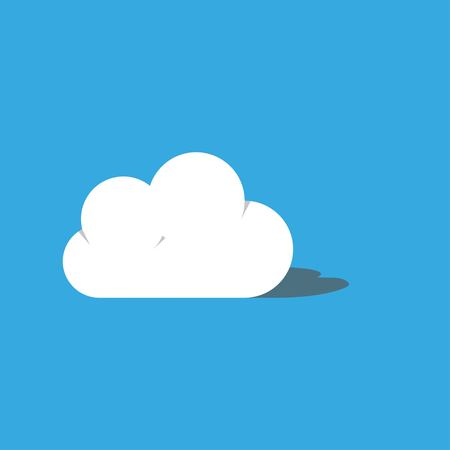 Cloud vector illustration on blue sky with shadow. Vector illustration EPS 10. Illustration