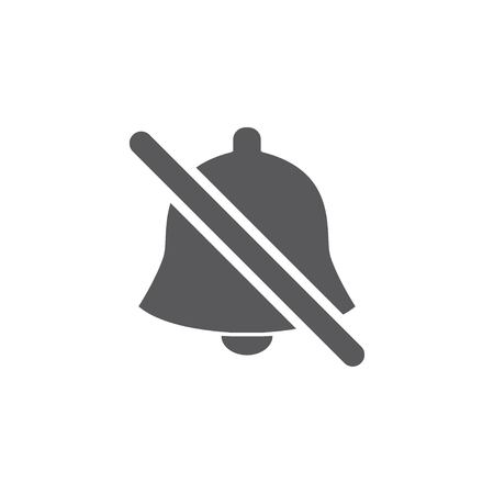 Crossed out bell icon. Silent mode. Notification line icons. Social Media element, User Interface sign. Vector illustration EPS 10.