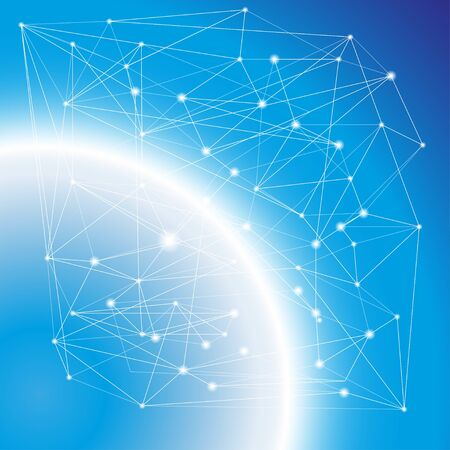 Neurospace abstract background. Vector illustration EPS 10. Ilustración de vector