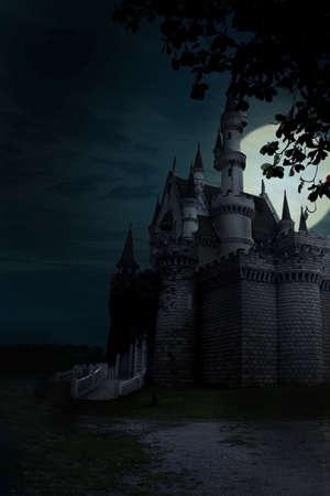 horror castle: halloween Stock Photo