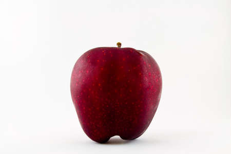 Red fresh apple on white background Stock Photo