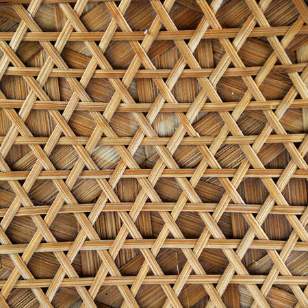 rattan mat: texture bamboo  for background Stock Photo